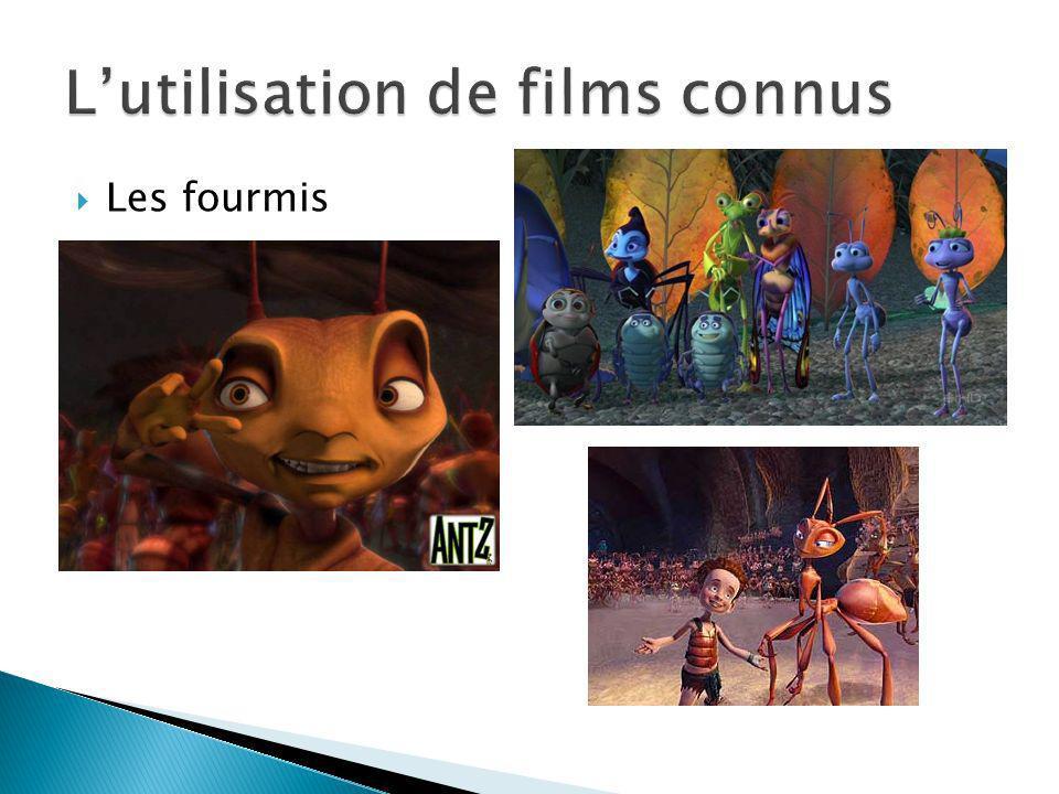 L'utilisation de films connus