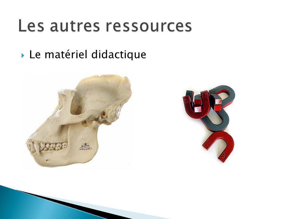 Les autres ressources Le matériel didactique