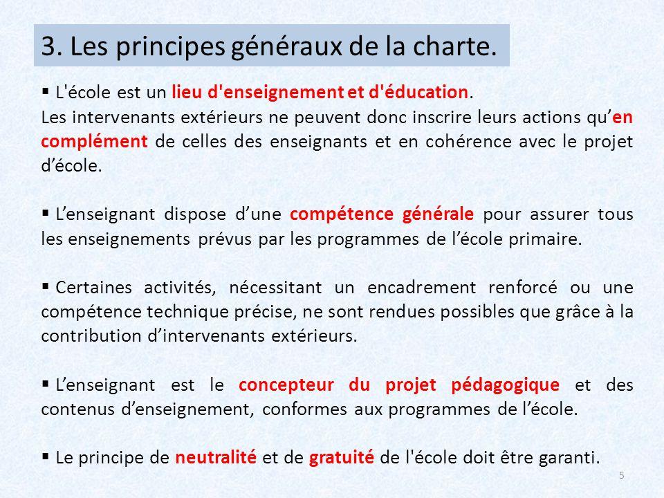 3. Les principes généraux de la charte.