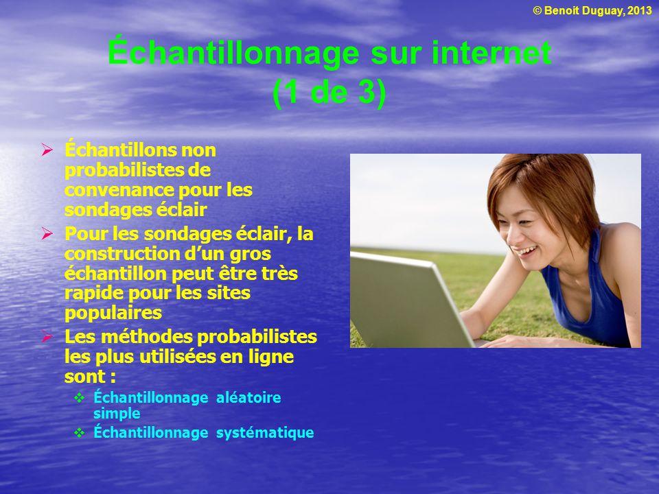 Échantillonnage sur internet (1 de 3)