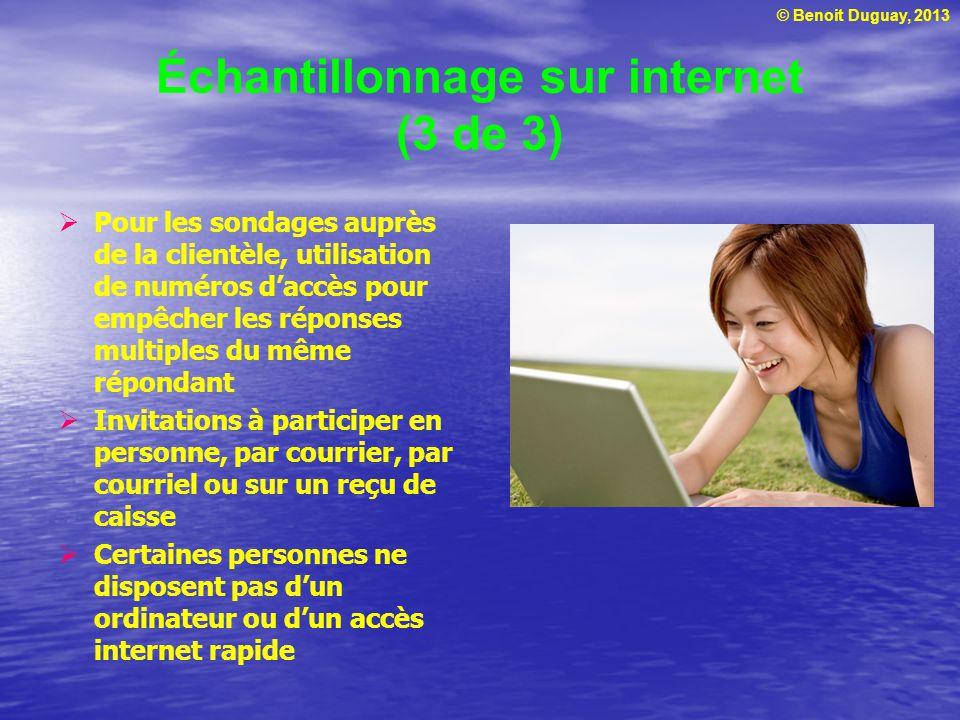 Échantillonnage sur internet (3 de 3)