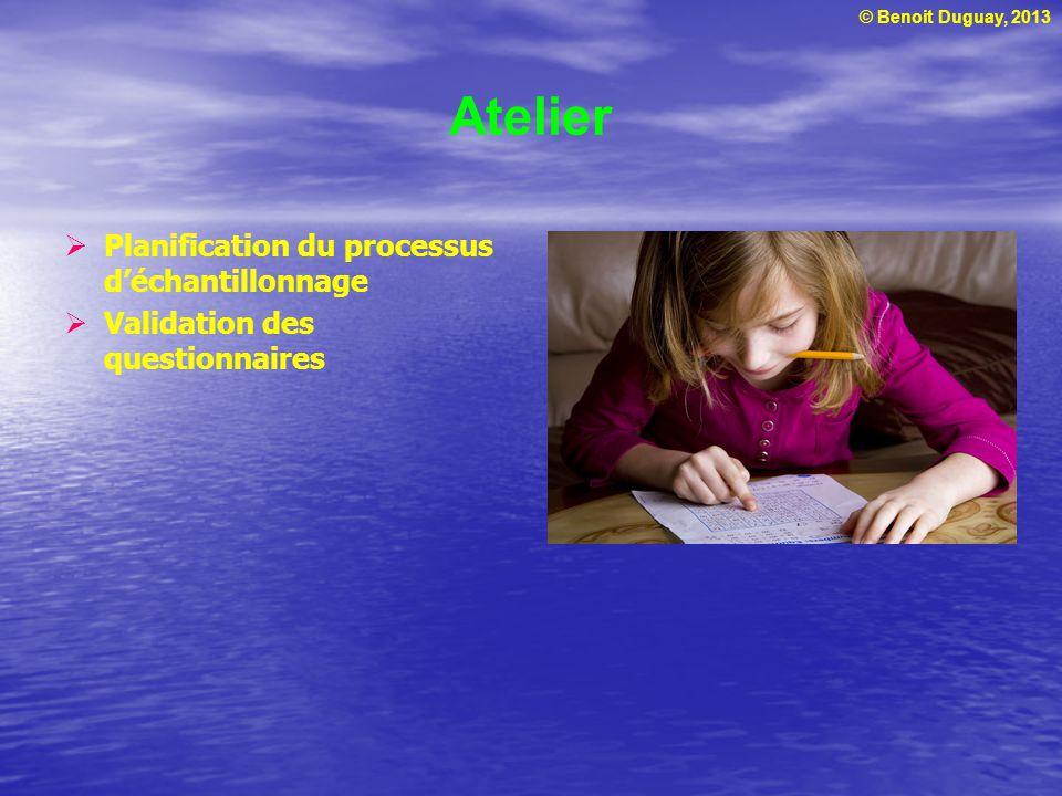 Atelier Planification du processus d'échantillonnage