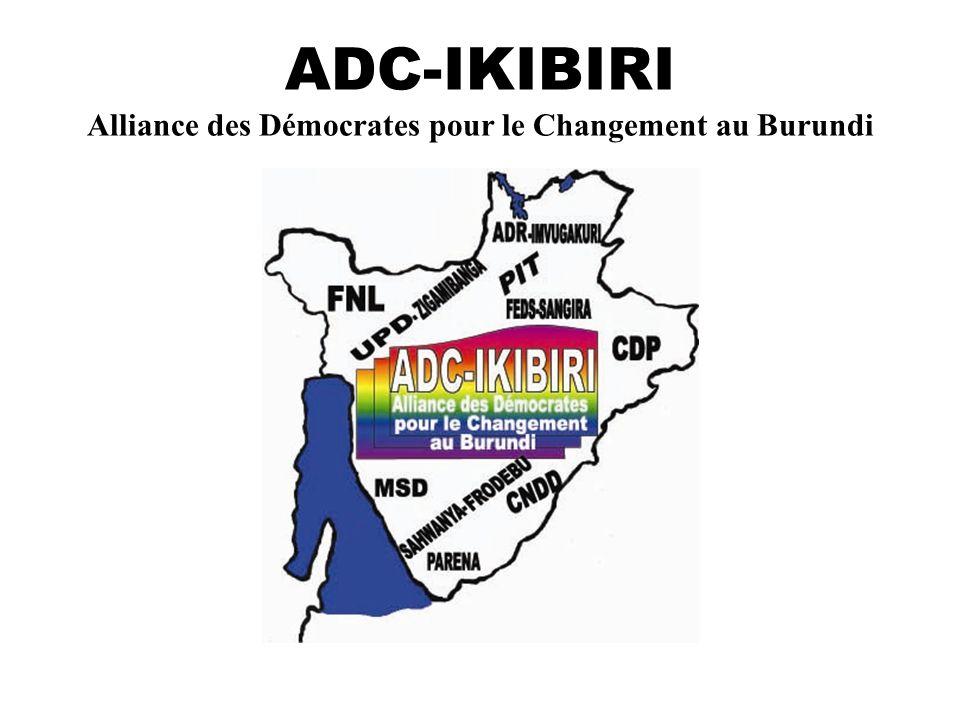 ADC-IKIBIRI Alliance des Démocrates pour le Changement au Burundi