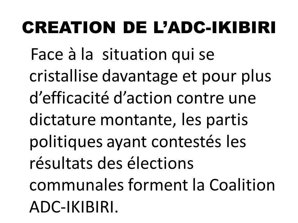 CREATION DE L'ADC-IKIBIRI