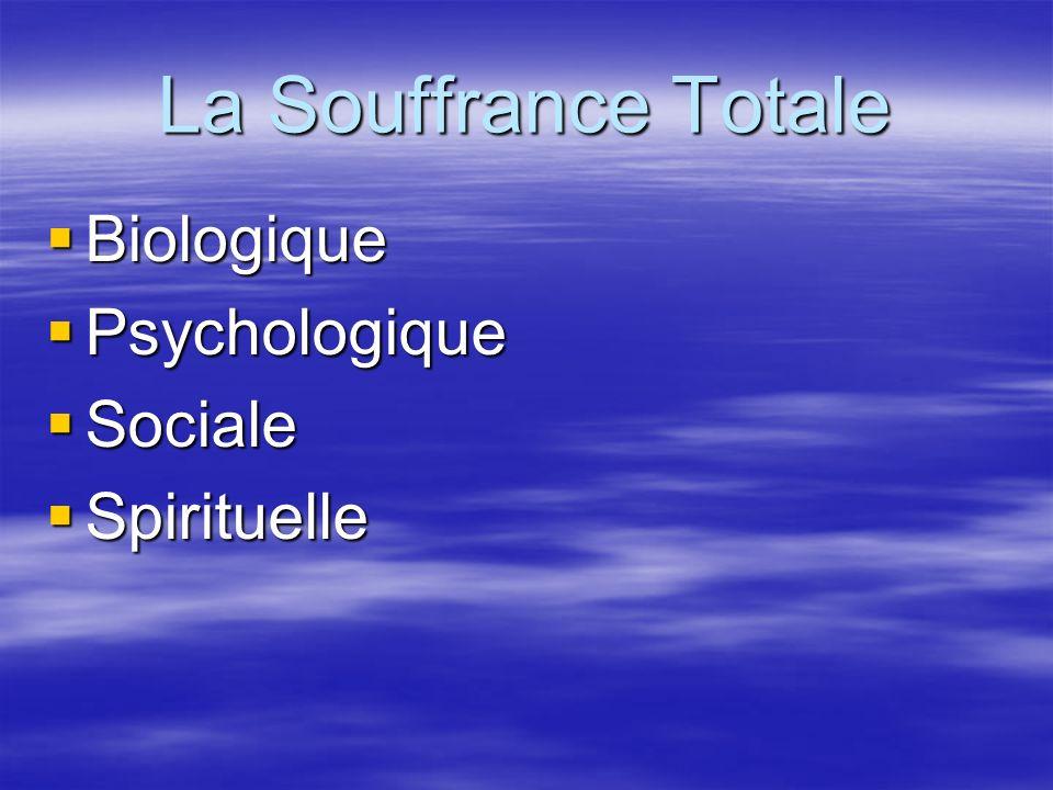 La Souffrance Totale Biologique Psychologique Sociale Spirituelle