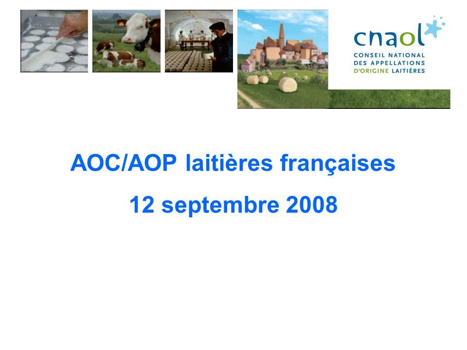 AOC/AOP laitières françaises
