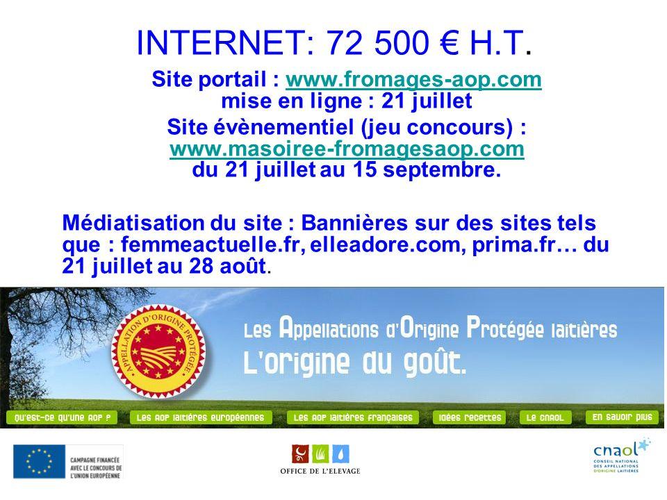 Site portail : www.fromages-aop.com mise en ligne : 21 juillet