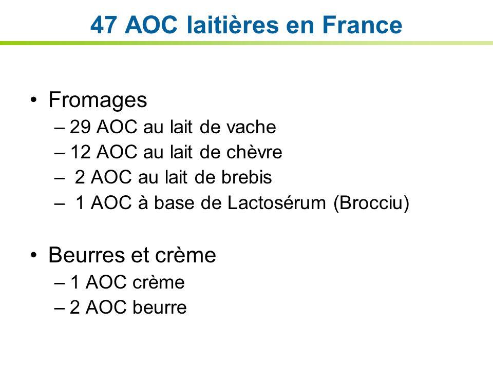 47 AOC laitières en France