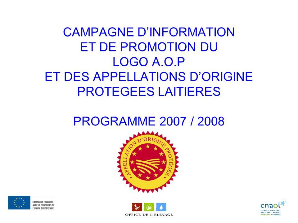 CAMPAGNE D'INFORMATION ET DE PROMOTION DU LOGO A. O