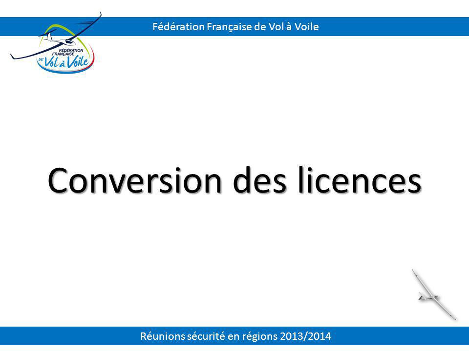Conversion des licences