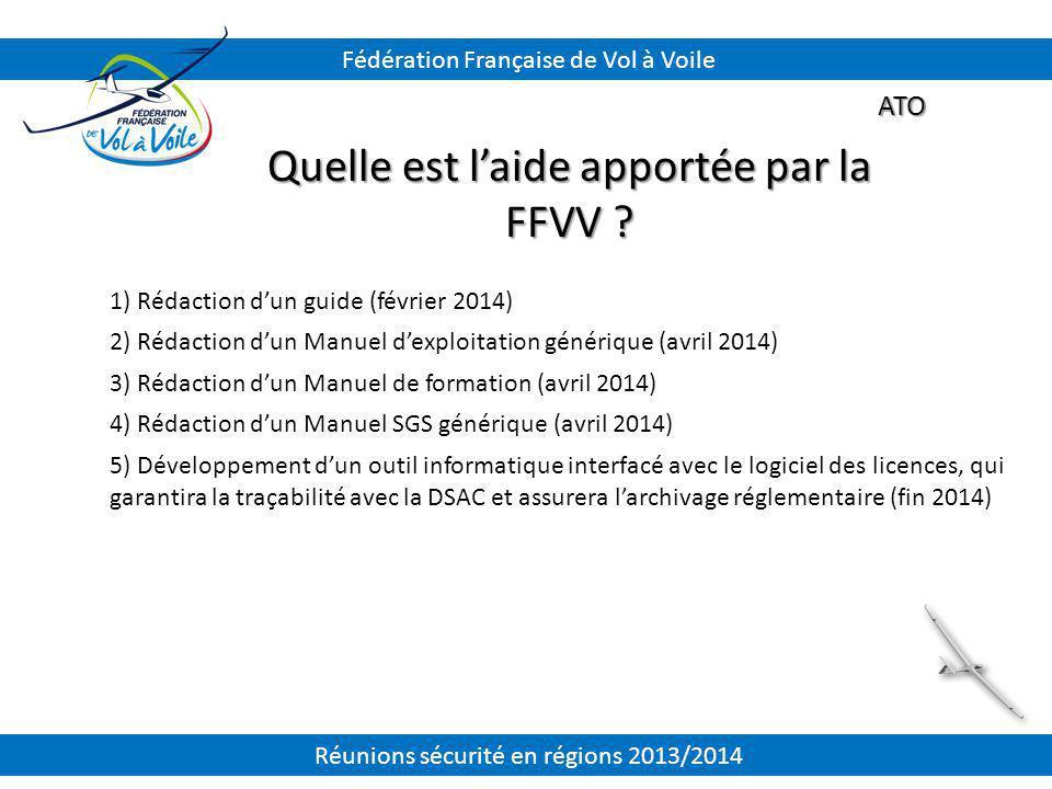 Quelle est l'aide apportée par la FFVV