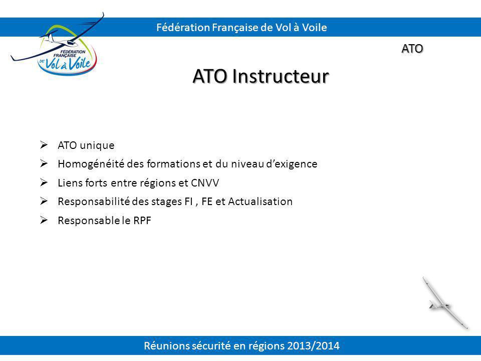 ATO Instructeur ATO Fédération Française de Vol à Voile ATO unique