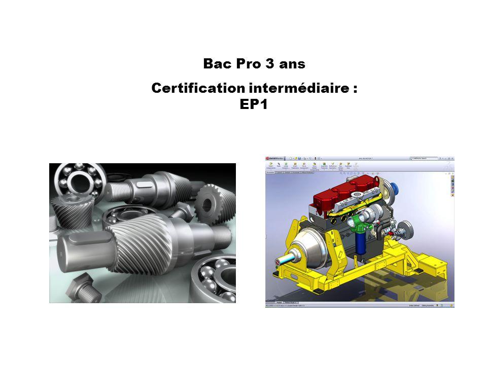 Certification intermédiaire : EP1
