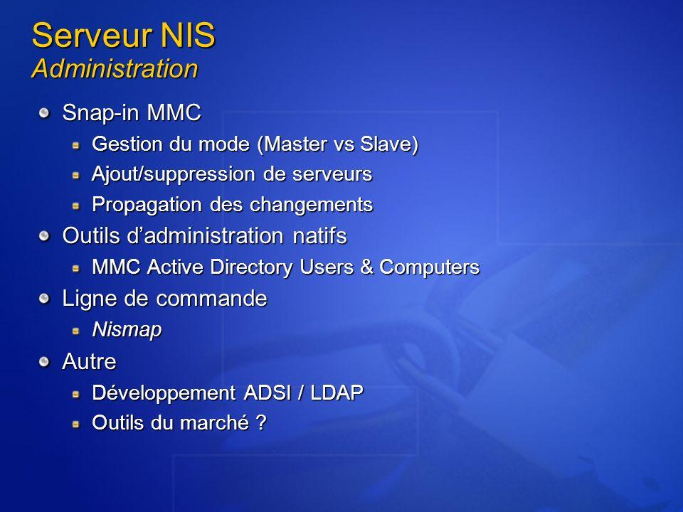 Serveur NIS Administration