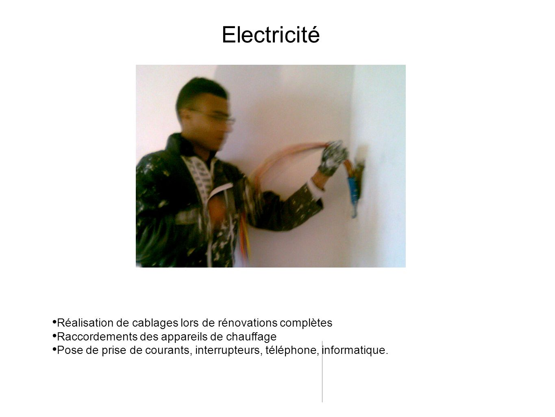 Electricité Réalisation de cablages lors de rénovations complètes