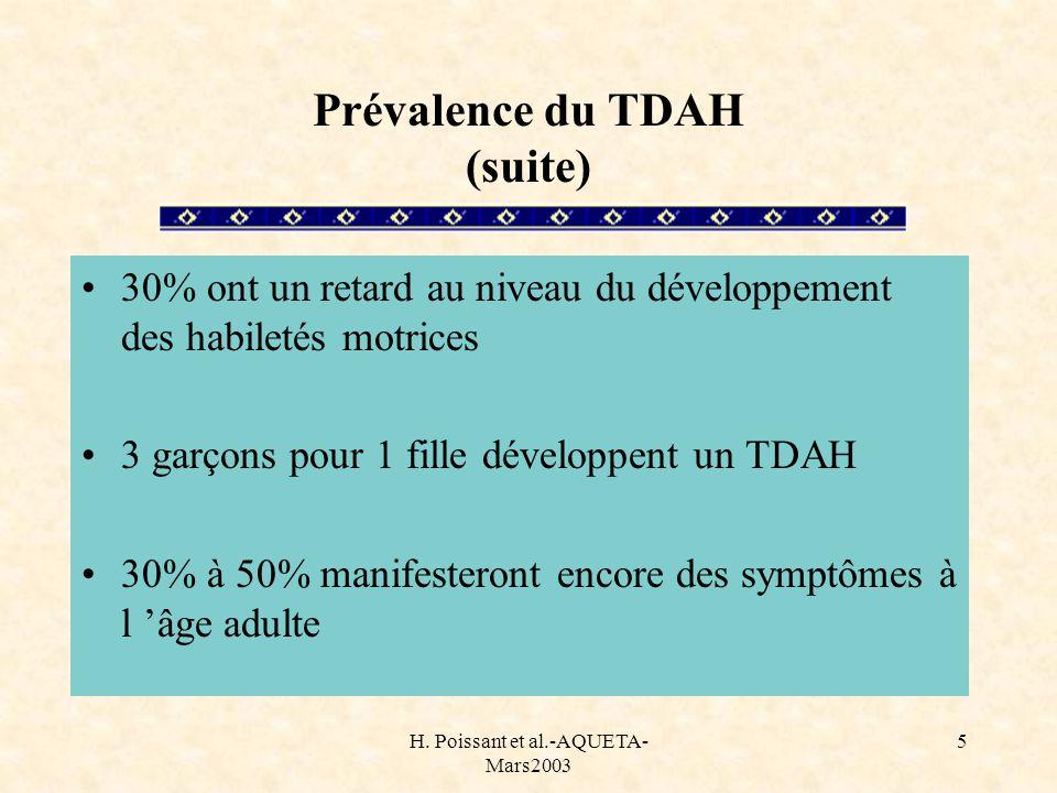 Prévalence du TDAH (suite)
