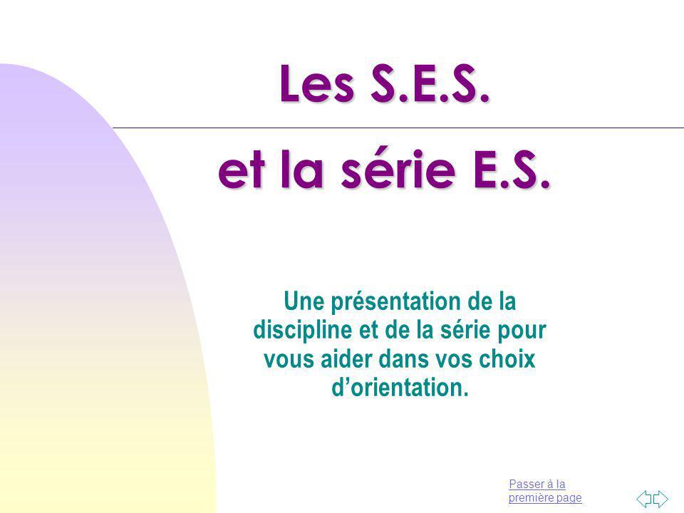 Les S.E.S. et la série E.S.