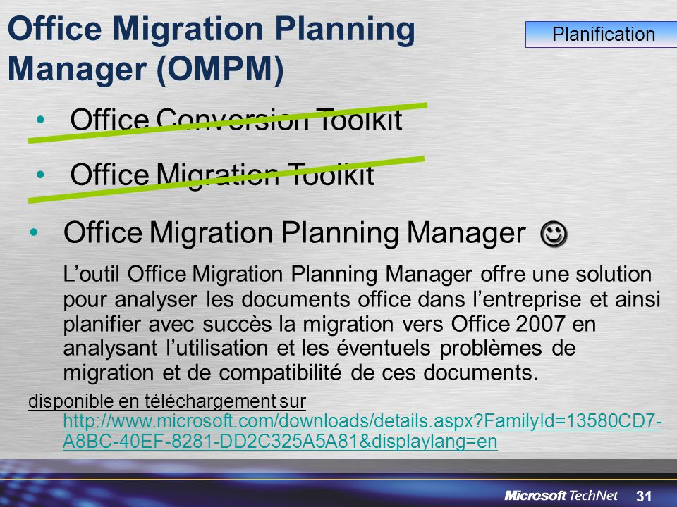 Office Migration Planning Manager (OMPM)