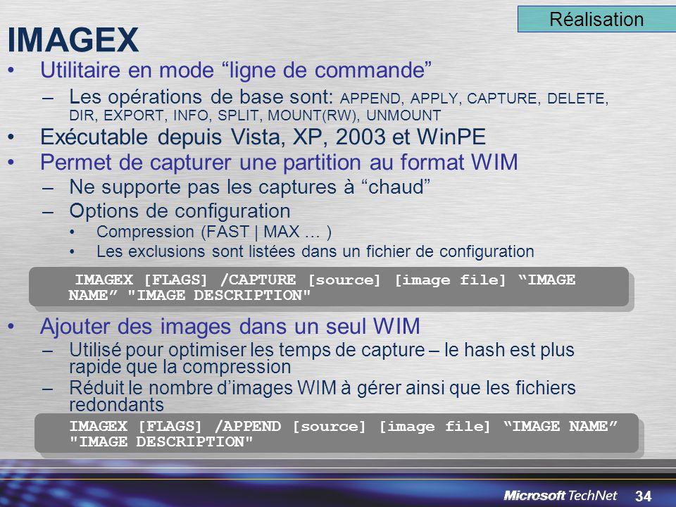 IMAGEX Utilitaire en mode ligne de commande