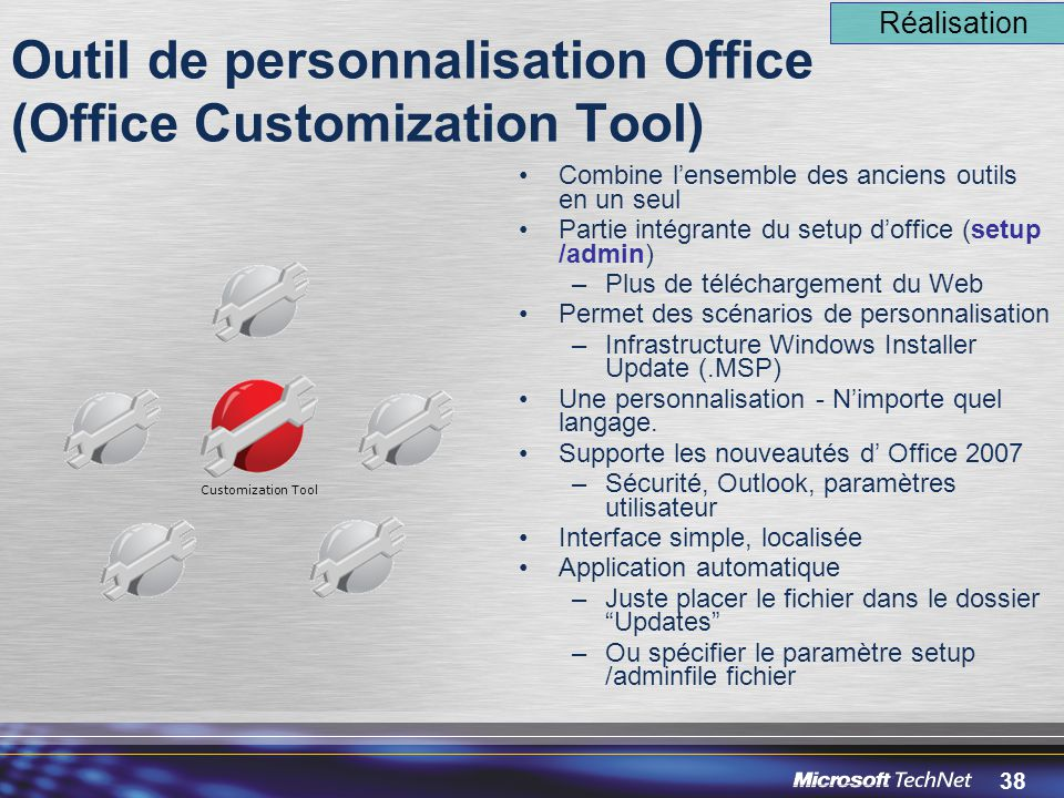 Outil de personnalisation Office (Office Customization Tool)