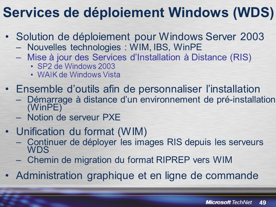 Services de déploiement Windows (WDS)