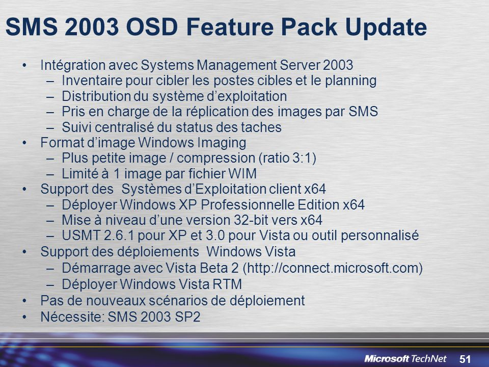 SMS 2003 OSD Feature Pack Update