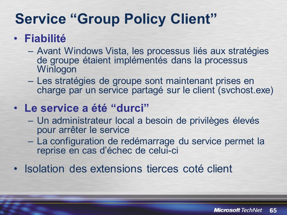 Service Group Policy Client