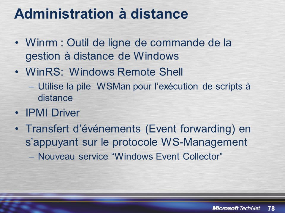 Administration à distance