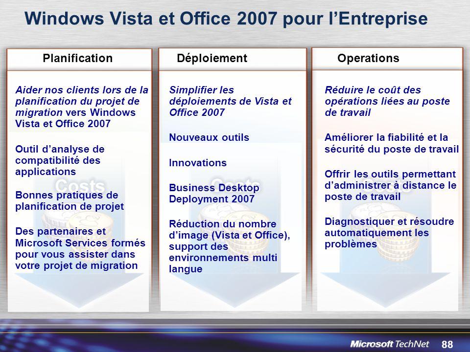Windows Vista et Office 2007 pour l'Entreprise