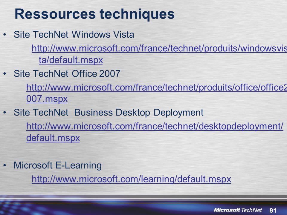 Ressources techniques