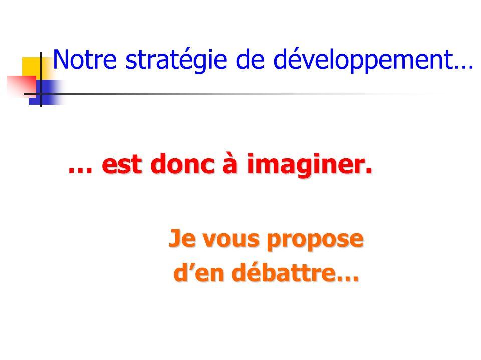 Notre stratégie de développement…