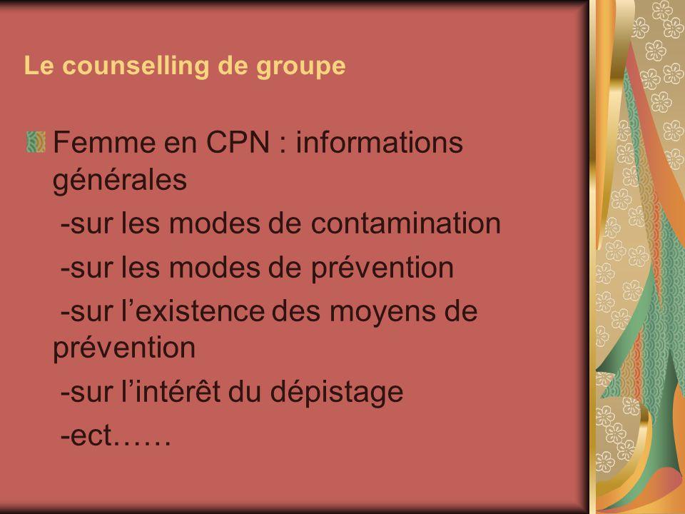 Le counselling de groupe