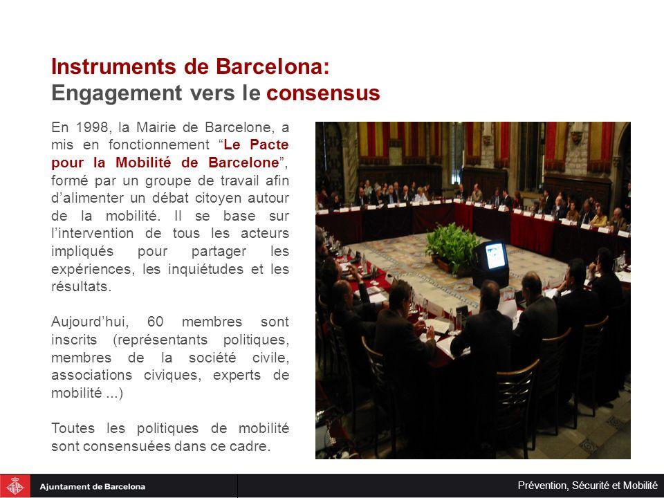 Instruments de Barcelona: Engagement vers le consensus