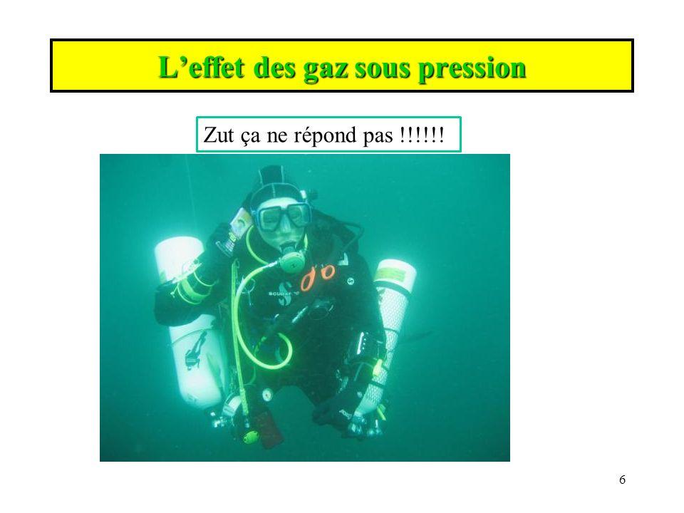 L'effet des gaz sous pression