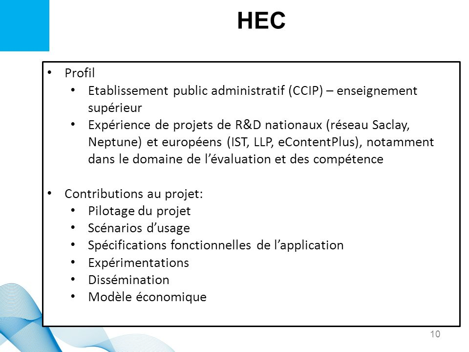HEC Profil. Etablissement public administratif (CCIP) – enseignement supérieur.