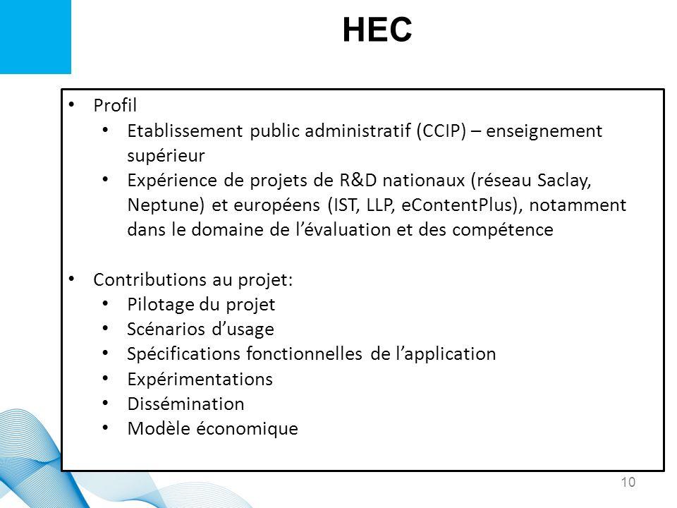 HECProfil. Etablissement public administratif (CCIP) – enseignement supérieur.