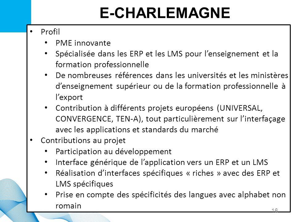 E-CHARLEMAGNE Profil PME innovante