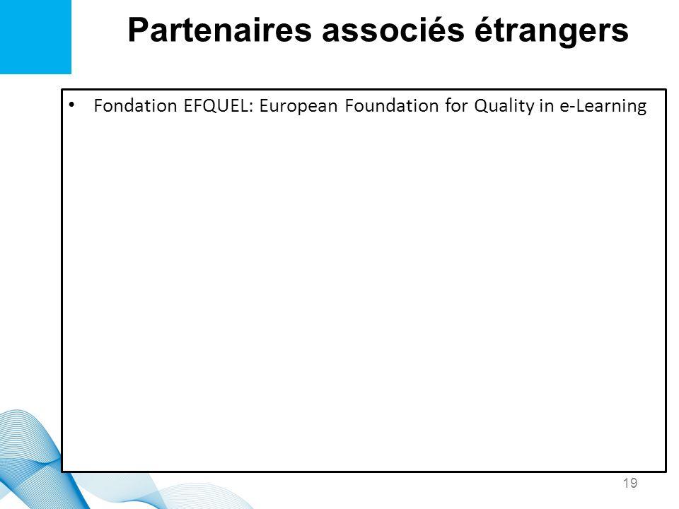 Partenaires associés étrangers