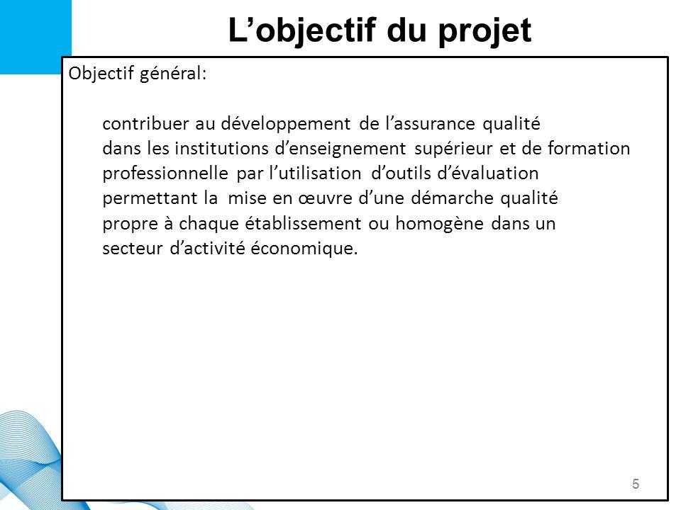 L'objectif du projet Objectif général: