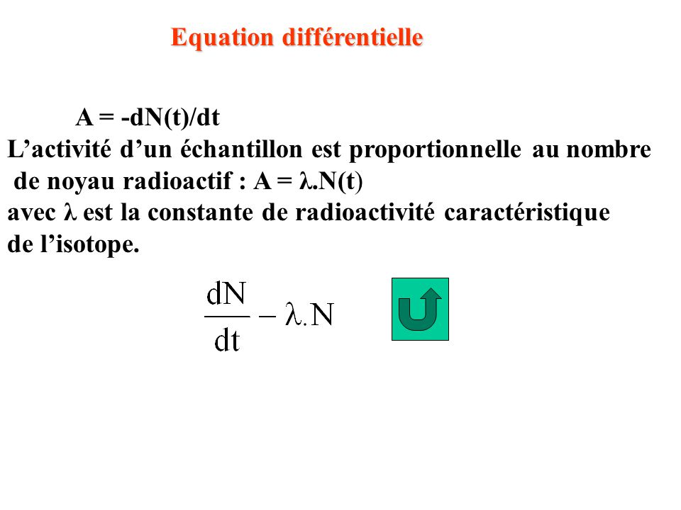 Equation différentielle