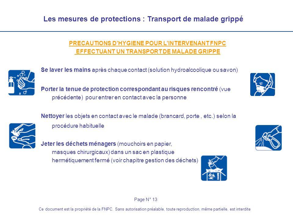Les mesures de protections : Transport de malade grippé