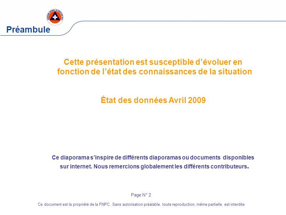 PréambuleCette présentation est susceptible d'évoluer en fonction de l'état des connaissances de la situation.