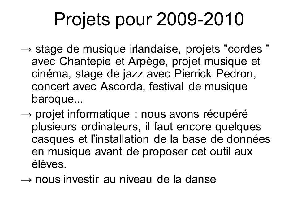 Projets pour 2009-2010