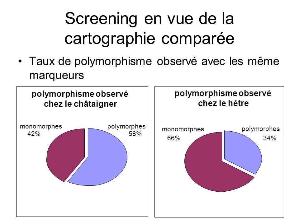 Screening en vue de la cartographie comparée