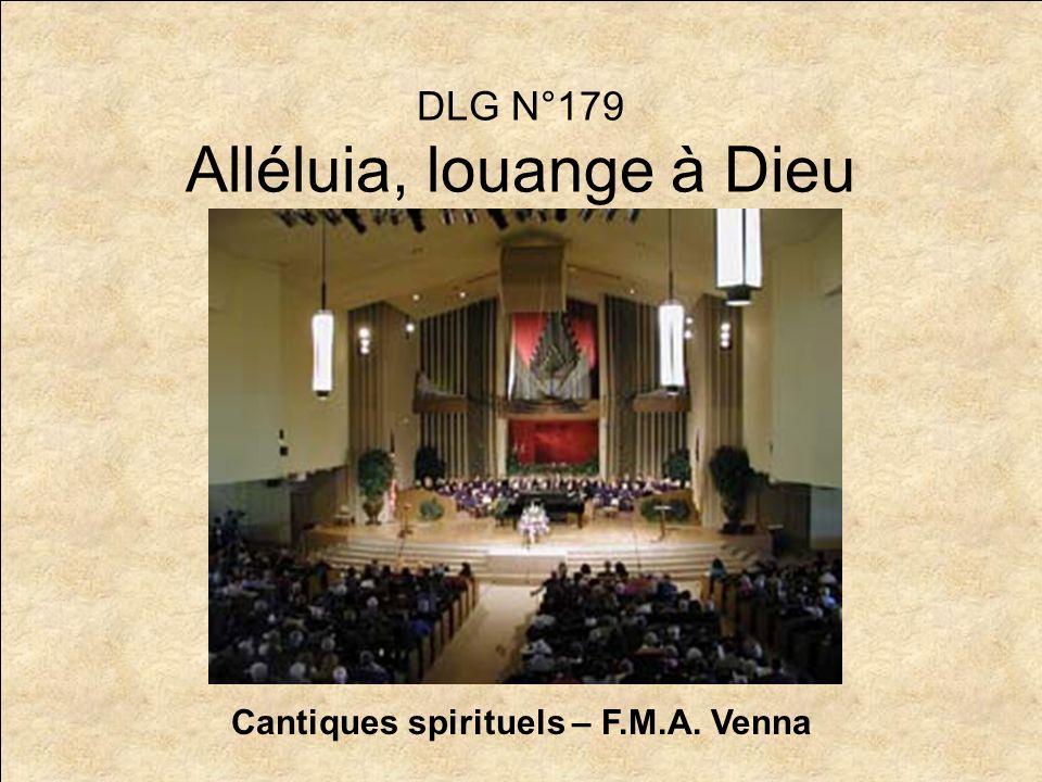 DLG N°179 Alléluia, louange à Dieu
