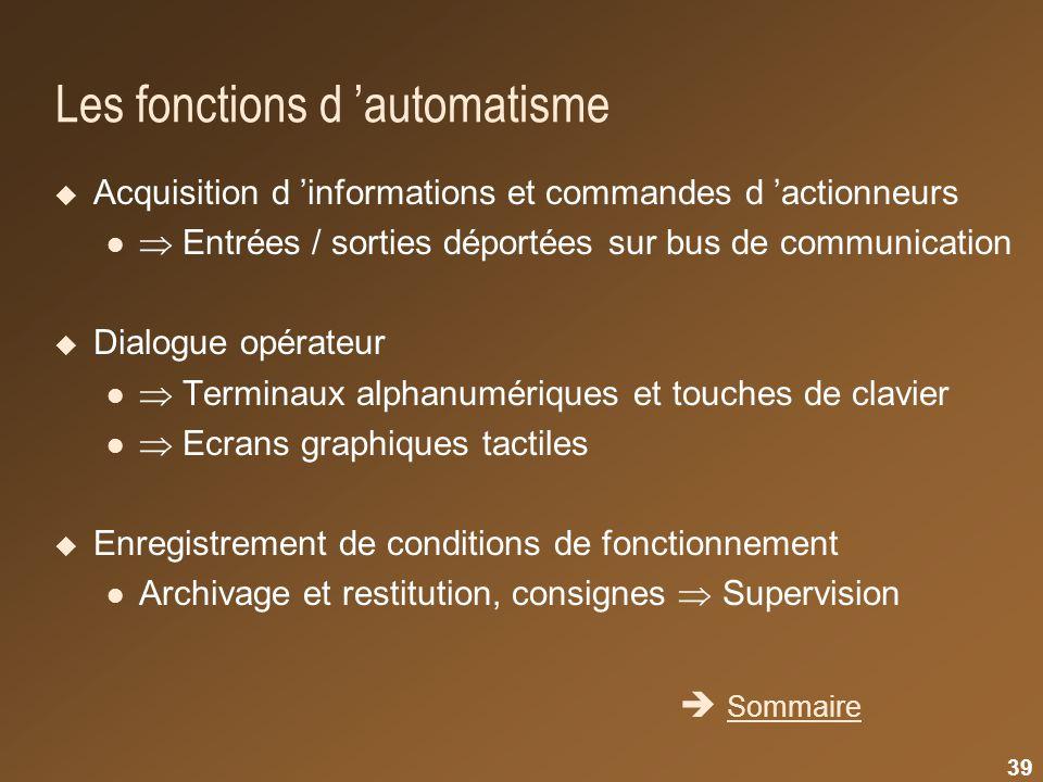 Les fonctions d 'automatisme