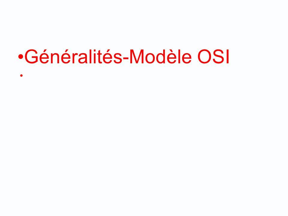 Généralités-Modèle OSI
