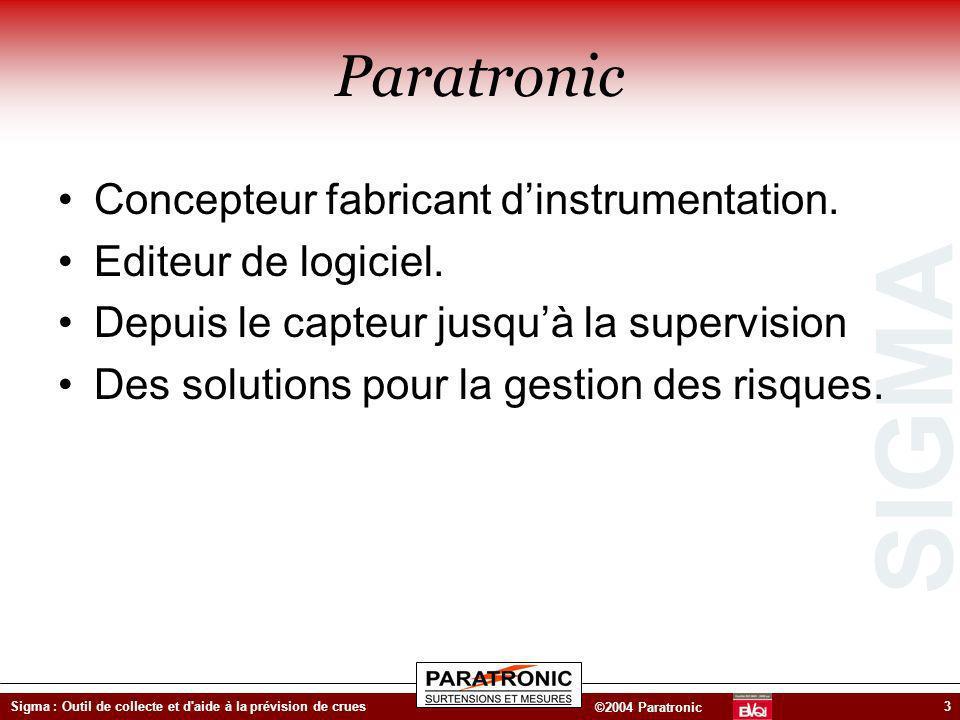Paratronic Concepteur fabricant d'instrumentation.