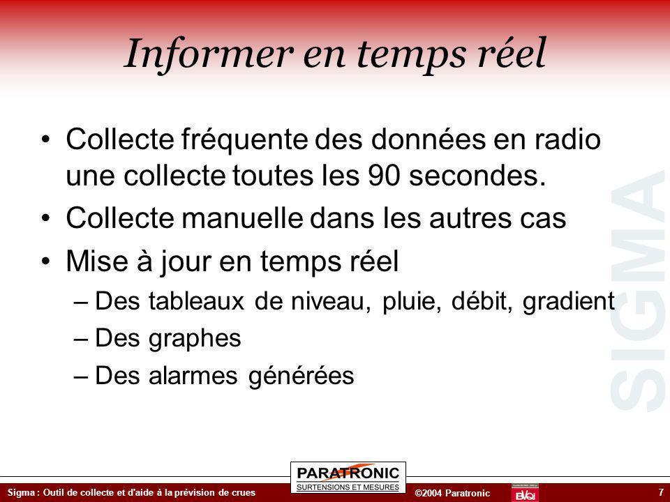 Informer en temps réelParatronic ZI des Genêts 01600 Reyrieux - Tel 04 74 00 12 70 - http://www.paratronic.fr.