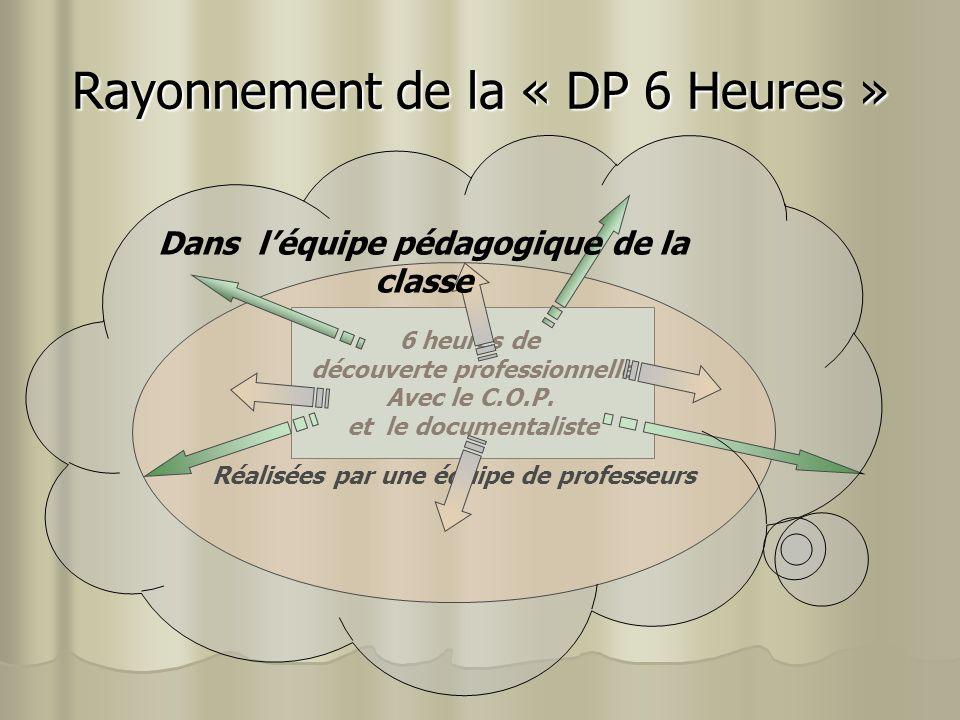 Rayonnement de la « DP 6 Heures »